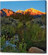 Sunrise At Mount Whitney From Tuttle Creek Canvas Print