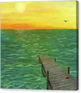 Sunrise At The Dock Canvas Print