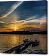 Sunrise Dog Lake Canvas Print