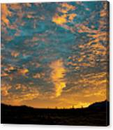 Sunrise In Beaumont,ca Canvas Print
