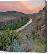 Sunrise In Big Bend Along The Hot Springs Trail 1 Canvas Print