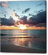 Sunrise In Miami Canvas Print