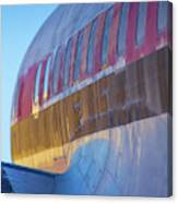Sunrise On An Old Airplane Canvas Print