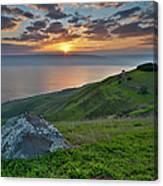 Sunrise On Sea Of Galilee Canvas Print