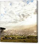 Sunrise Over Cape Town South Africa Canvas Print