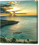 Sunrise Over Hanauma Bay On Oahu Hawaii Canvas Print