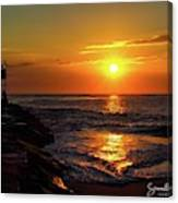 Sunrise Over Indian River Inlet Canvas Print