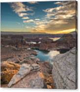 Sunrise Over Padre Bay On Lake Powell Canvas Print