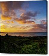 Sunrise Over The Bay At Pigeon Point Lighthouse Canvas Print