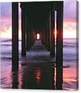 Sunrise Over The Pacific Ocean Seen Canvas Print
