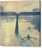 Sunrise Rowers On Lady Bird Lake Austin Canvas Print