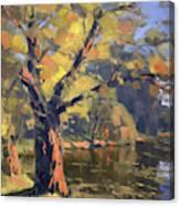 Sunset At Bond Lake Park Canvas Print
