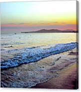 Sunset At Butterfly Beach, Santa Canvas Print