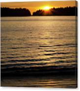 Sunset Beach Vancouver Island 2 Canvas Print