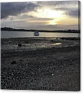 Sunset By Bucklands  Beach Canvas Print