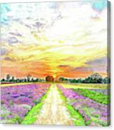 Sunset - Colors Of Nature Canvas Print