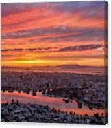 Sunset Explosion Over Lake Merritt Canvas Print
