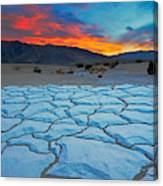 Sunset From Mesquite Flat Sand Dunes Canvas Print