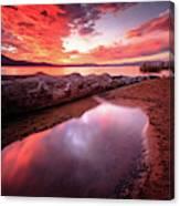 Sunset Harmony At Kiva Beach Canvas Print