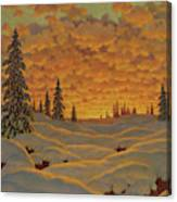 Sunset In Finland  Canvas Print