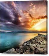 Sunset In Nafplio Canvas Print