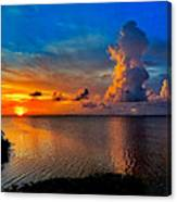 Sunset On Cudjoe Bay 8584 Canvas Print