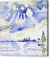 Sunset On The Lagoon, Venice - Digital Remastered Edition Canvas Print