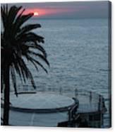 Sunset Over A Balcony Canvas Print