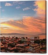 Sunset Over Florianopolis Canvas Print