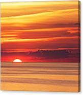 Sunset Over Lake Erie Canvas Print