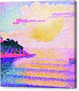 Sunset Over The Sea - Digital Remastered Edition Canvas Print