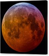 Super Wolf Blood Moon Lunar Eclipse Of 2019 Canvas Print