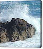 Surf On Rocks Canvas Print