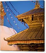 Swambutayah - The Monkey Temple Canvas Print