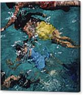 Swimming In The Bahamas Canvas Print