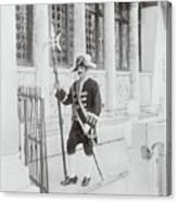 Swiss Guard At St. Marco Church Canvas Print