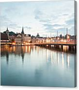 Switzerland, Lucerne, View Of Canvas Print