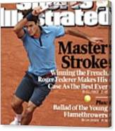 Switzerland Roger Federer, 2009 French Open Sports Illustrated Cover Canvas Print