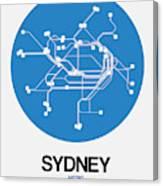 Sydney Blue Subway Map Canvas Print