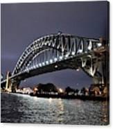 Sydney Harbor Bridge Night View Canvas Print