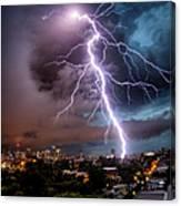 Sydney Summer Lightning Strike Canvas Print