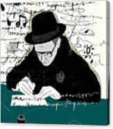 Symbolic Image Of A Man Who Writes A Canvas Print