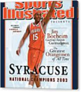 Syracuse University Carmelo Anthony, 2003 Ncaa National Sports Illustrated Cover Canvas Print