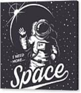 T-shirt Design Print. Space Theme Canvas Print
