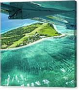 Taking Off From Great Barrier Reef Canvas Print