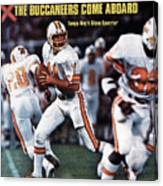 Tampa Bay Buccaneers Qb Steve Spurrier... Sports Illustrated Cover Canvas Print