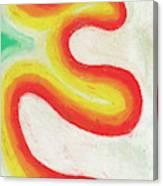 Tangerine Swoosh Canvas Print