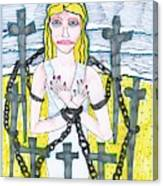 Tarot Of The Younger Self Eight Of Swords Canvas Print
