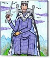 Tarot Of The Younger Self King Of Swords Canvas Print