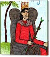 Tarot Of The Younger Self King Of Wands Canvas Print